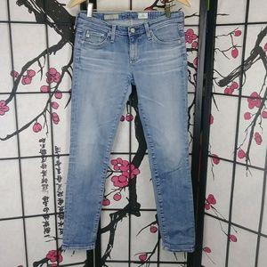 AG Stilt Jeans Light Wash Cigarette Leg Denim